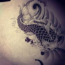 koi fish dragon tattoo design