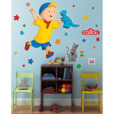 caillou giant wall decals toy box review