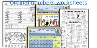 english teaching worksheets ordinal numbers