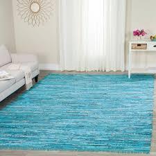 Home Depot Rugs Sale Safavieh Rag Rug Turquoise Multi 8 Ft X 10 Ft Area Rug Rar125c 8