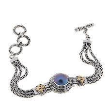 silver bracelet designs images Bali designs by robert manse blue mab pearl sterling silver jpg
