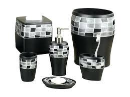 black white bathroom accessories sets telecure me