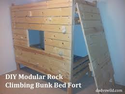 Fort Bunk Bed Diy Modular Rock Climbing Bunk Bed Fort Vs