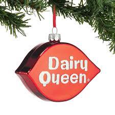 dairy queen halloween cakes amazon com department 56 dairy queen logo ornament home u0026 kitchen