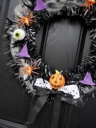 make your own halloween door wreath diy tutorial bang on style