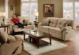 Microfiber Reclining Sofa Hazelnut Microfiber Reclining Sofa Loveseat W Pillow Arms