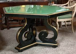 ebony and gilt gold hollywood regency centre or dining table at