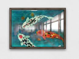 stretched canvas print with floating frame varnish