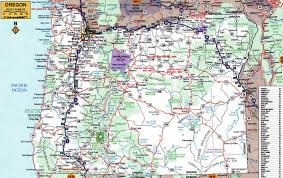 map of oregon state large roads and highways map of oregon state with cities vidiani