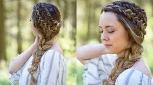 hair styles foe 60yearolddlim womem double dutch side braid diy back to school hairstyle cute