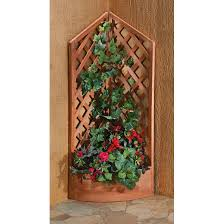 corner trellis wooden planter 627459 planters at sportsman u0027s guide
