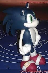 sonic the hedgehog cake topper sonic the hedgehog cake topper tutorial cake decorating