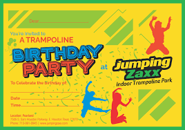 graphic design birthday invitations birthday invitations jumping zaxx