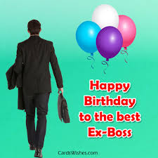 birthday wishes for ex boss cards wishes