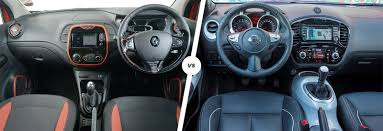 renault captur interior renault captur vs nissan juke crossover clash carwow