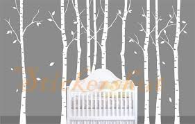 Wall Mural White Birch Trees Large Vinyl White Birch Tree Decals Aus50 98 00 Wall