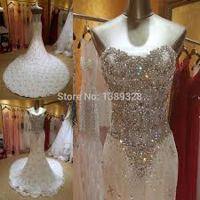 bling wedding dresses aliexpress buy real photos bling beadeds luxury