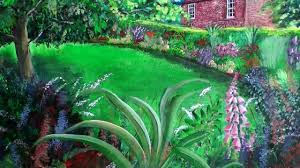 pics of gardens the garden cottage colourful acrylic painting of peckover house