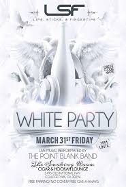 all white party sticks and fingertips all white party the room college
