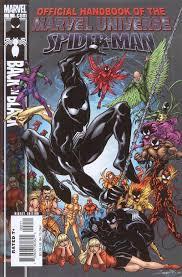 official handbook marvel universe spider man black