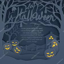 halloween trees pumpkins background happy halloween glow pumpkin horror background text space