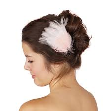 hair corsage feather corsage hackle goose peacock chagne white