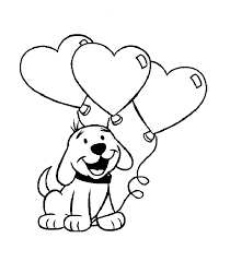 valentine heart animals kids coloring