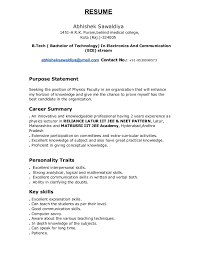 Computer Science Sample Resume by Resume Format For Physics Lecturer Resume Format