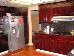 Red Cabinets Kitchen by Stained Kitchen Cabinets Before And After Homes Design Inspiration