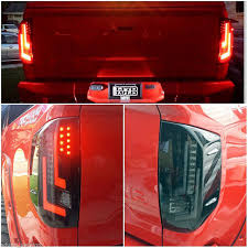 led brake lights for trucks 2014 2015 toyota tundra performance led tail lights black smoked