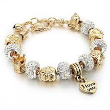 charm snake bracelet images Charm bracelets long way gold plated snake chain glass beads i jpg