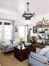 Porcelain Blue Rug Country Livingroom Ideas Fancy Round Recessed Light Ivory