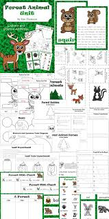 forest animal unit literacy and science activities literacy
