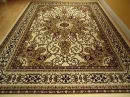 Large Ivory 8x11 Persian Style Rug Oriental Rug Cream Area Rug
