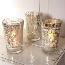 glass tea light holders silvered glass tealight holder by red lilly notonthehighstreet com