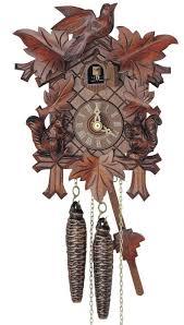 Cuckoo Clock Germany Clockway 14in Carved Squirrels Schneider German Black Forest 1