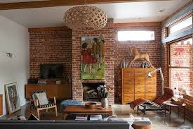 Industrial Look Living Room by Of A Country House In A Mixed Style With Elements Of Retro And