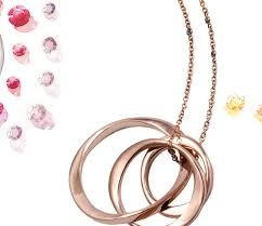 rose gold rings necklace images 9ct gold three interlinked infinity rings necklace by sibylle de jpg