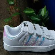 Jual Adidas Anak jual adidas superstar size 30 35 sepatu anak wanita pria tanpa tali