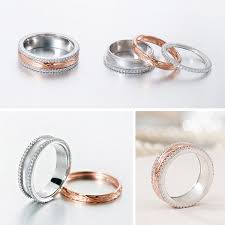 silver engagement ring gold wedding band silver age couples rings gold spinner wedding bands with