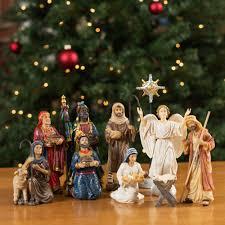 real nativity set 7 scale the catholic company