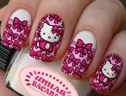 145 best uñas images on pinterest hello kitty nails pretty