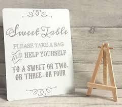 Wedding Buffet Signs by Sweet Buffet Sign Home Furniture U0026 Diy Ebay