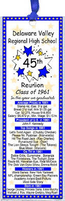 high school reunion favors class reunion favors these unique reunion bookmarks are
