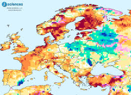 Map Western Europe by Europe Water Surpluses Forecast In Eastern Europe Deficits In