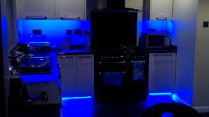led lighting for kitchens my new colour changing led kitchen lights youtube