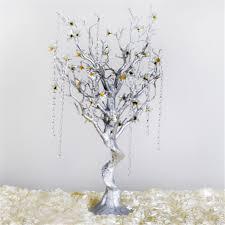manzanita tree inch silver glittered manzanita tree with garlands and flowers