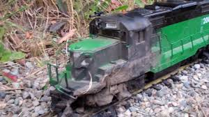 g scale trains bn gp20 destroyed by a electrical