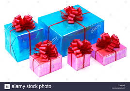 bows for presents a of pink and turquoise blue presents with