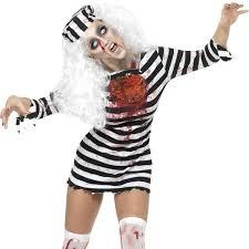 Extra Small Halloween Costumes Ladies Zombie Convict Fancy Dress Costume Walking Halloween Dead